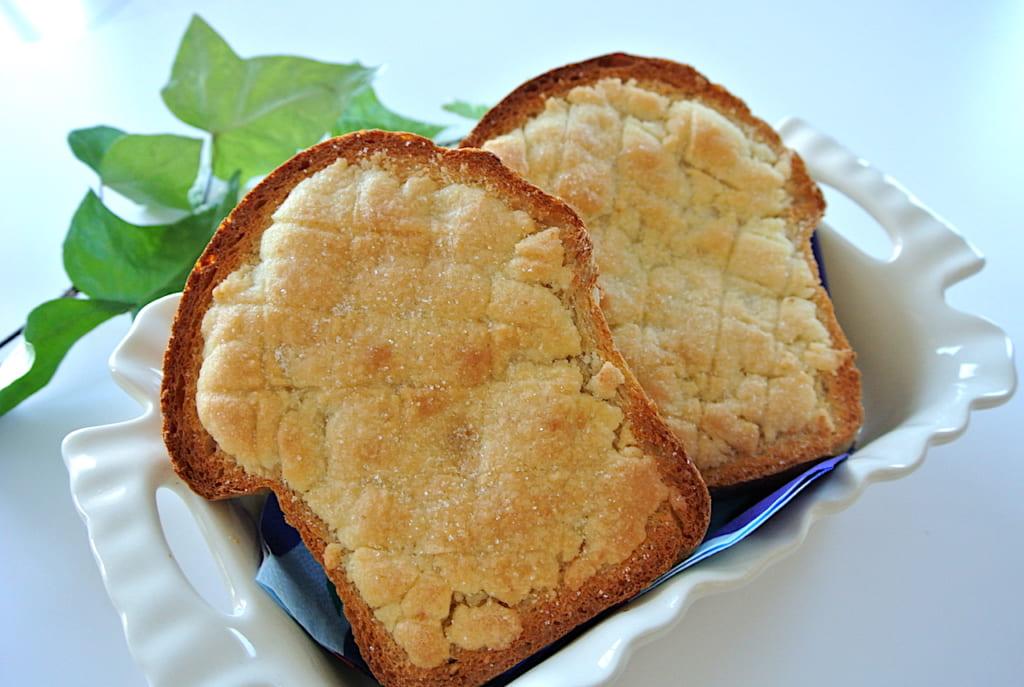 メロンパン、食パン、レシピ、簡単、バター、おやつ、朝食、トースト
