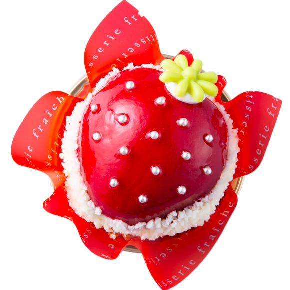 まんまる苺ケーキ