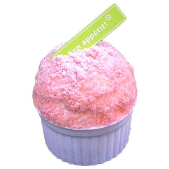 ふんわり苺のカップケーキ
