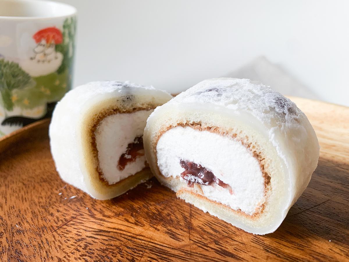 【ローソン新商品ルポ】和洋折衷ロールケーキ「塩豆大福仕立てのもち食感ロール」