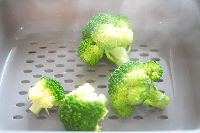 温野菜メーカーで作ったブロッコリー