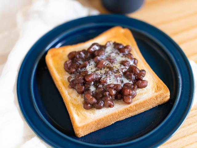 幸せになれる「小豆バタートースト」