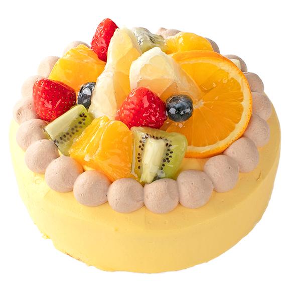 【4月限定】宮崎県産日向夏みかんとオレンジのデコレーション17cm