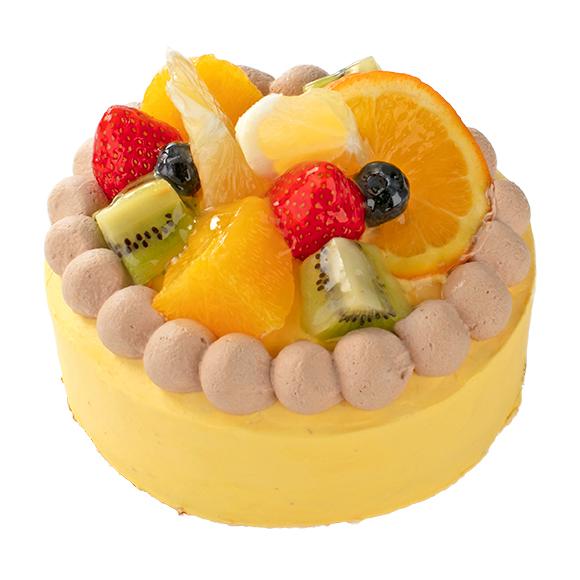 【4月限定】宮崎県産日向夏みかんとオレンジのデコレーション14cm