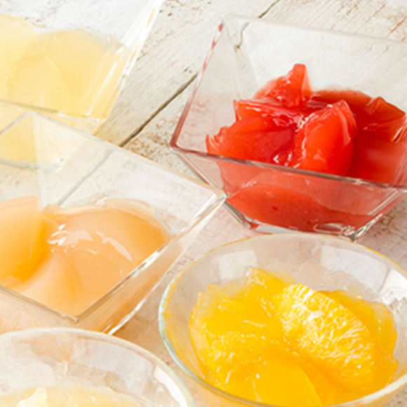 フルーツのジュレ3個入(白桃・苺・オレンジ)