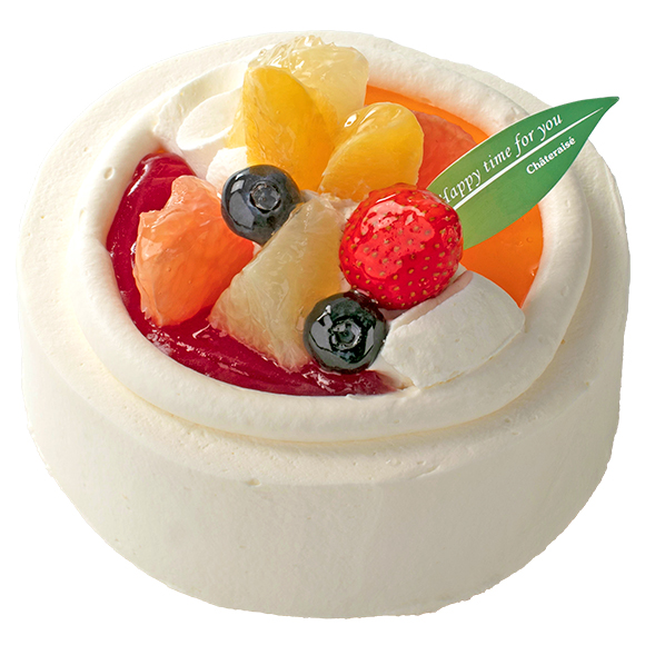 【4月~6月限定】苺と柑橘のスフレチーズデコレーション 14cm