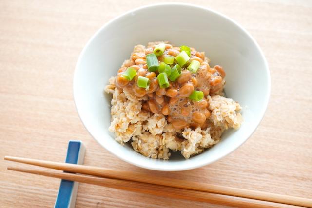 納豆ご飯のオートミール