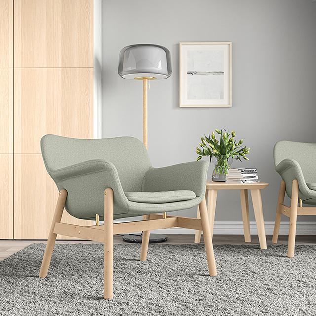 【イケア】今週のおすすめ新商品7選「椅子・チェア」|5月15日 VEDBO/ヴェードボーパーソナルチェア グンナレド ライトグリーン