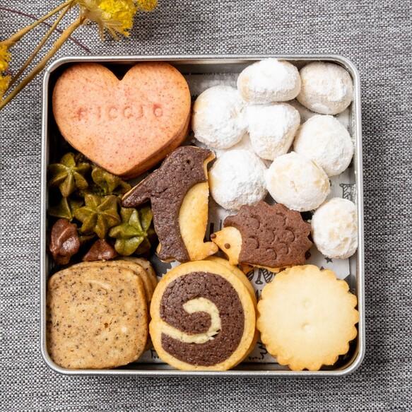 ハリネズミとペンギンのクッキー缶⁂発酵バターと米油使用⁂