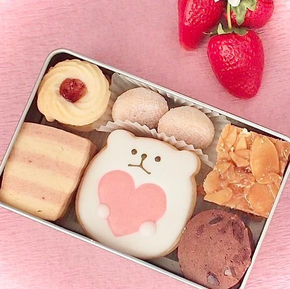 いちごのクッキー缶(小)