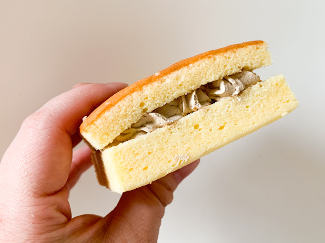 大きさは手のひらサイズくらい。デザートには食べやすい大きさ