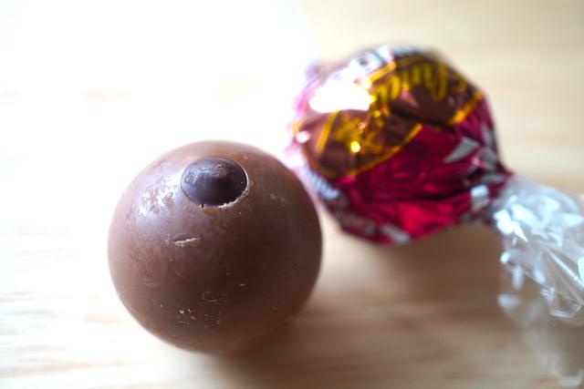 ダブルチョコレート包みと中身