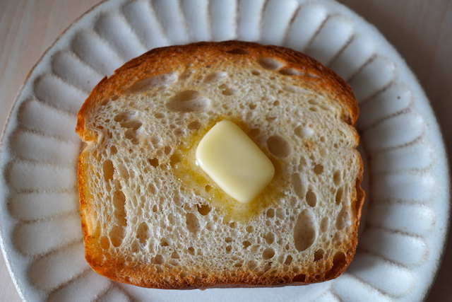 トーストしたキタノカオリブレッド