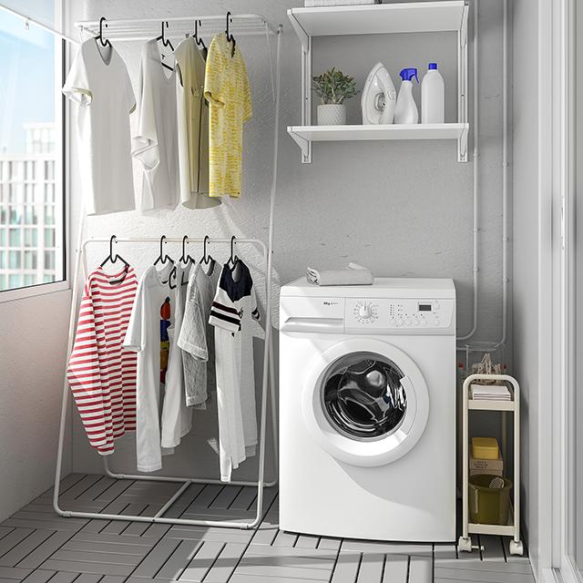 【イケア新商品】おすすめ「洗濯用品・掃除グッズ」7選|6月19日 SLIBB/スリッブ物干しラック 2段 グレー 78x46x185cm