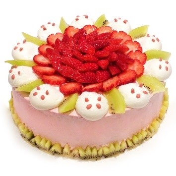 カフェコムサ「ストロベリーパンダのショートケーキ」