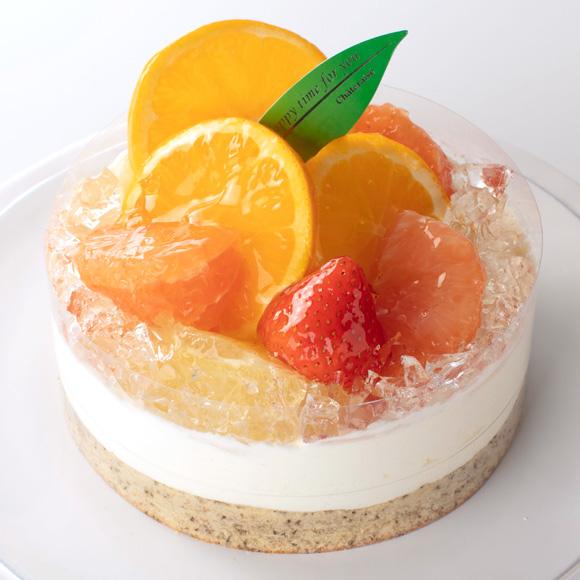 シャトレーゼ 柑橘のレアチーズデコレーション