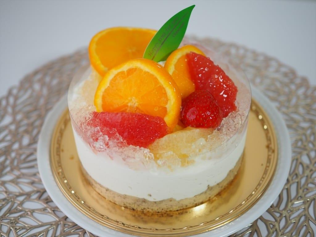 シャトレーゼ 柑橘のレアチーズデコレーション14cm