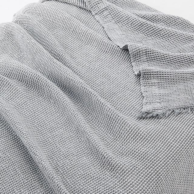 【無印良品 おすすめ商品】「夏の寝具」8選|7月24日 綿ワッフルケット・S/グレー×オフ白 140×200cm