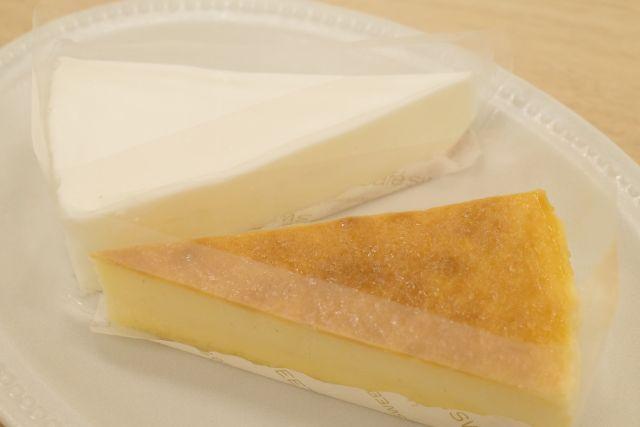 「塩レアチーズケーキ&レモンチーズケーキ」