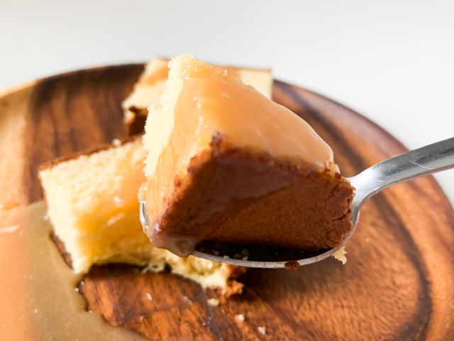 メープルの苦味と甘みにバターの濃厚な風味がカステラにぴったり!
