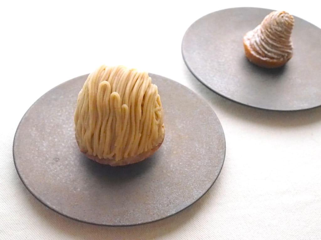 鎌倉レ・ザンジュの「和風モンブラン」と「焼きモンブラン」