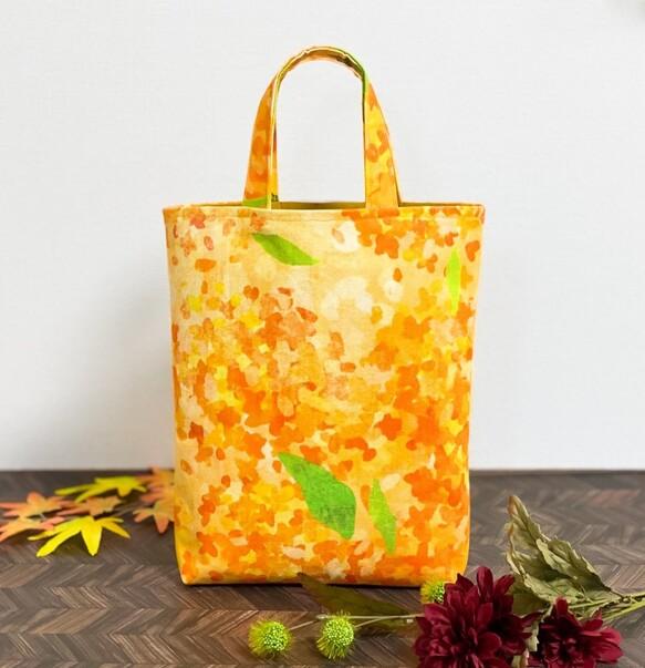 金木犀の帆布トートバッグ